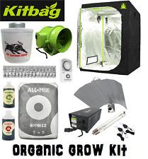 Complete Grow Tent Kit 600w Fan Kit 120 1.2 set up Hydroponics BUDDA Organic