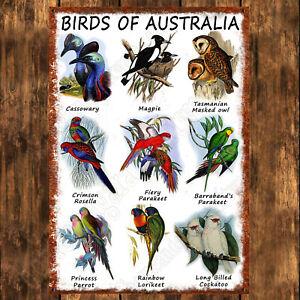 200mm x 285mm ALUMINIUM SIGN - JOHN GOULD - BIRDS OF AUSTRALIA - V2