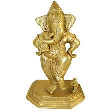 Figura latón Ganesha 22cm dios elefante Ganapati amuleto artesanía India decorar