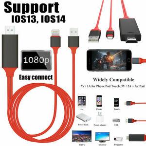 1080P Lightning to HDMI Cable Digital AV TV Adapter für iPhone 8 11 12 X XS iPad