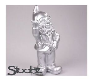 Rude Naughty Garden Gnome Giving the Finger Salute NIB - Made in The Netherlands