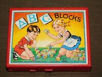 VINTAGE GERMANY CHILD TOY HERMANN EICHHORN 6 SIDED PUZZLE ABC BLOCKS