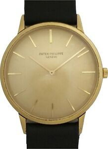$6900 Rare Reference 3768 Patek Philippe 18k Gold Mens Vintage Watch 1970's 215