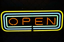 "New Open Sign Bar Neon Light Sign 24""x20"""