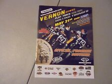 May 31,2008 Vernon Downs Flat Track Motorcycle Racing Program,N.Y. Dirt Trackin