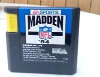 Madden NFL '94 (Sega Genesis, 1993) Cartridge Tested Working