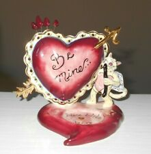 "Valentine ""Cupid Cat"" Hearts Tealight Candle Holder Heather Goldminc"