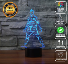 Cristiano Ronaldo CR7 Real Madrid 3D Night Light LED Touch Desk Lamp 7 Colour