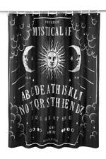 Killstar Not the End Ouija Shower Curtain NEW Black Goth Horror Decor Halloween