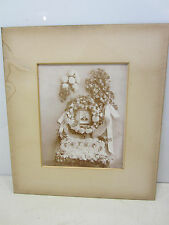 """Vintage Photograph of Funeral Flowers """"Father"""""""