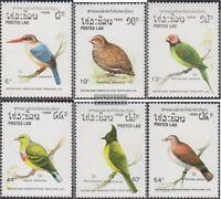 Laos 1082-1087 (kompl.Ausg.) postfrisch 1988 Vögel