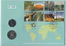 2005 UNC 50c WORLD HERITAGE SITES PNC RARE 50c COA FDC EXCELLENT CONDITION