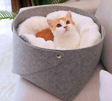 Cat Warm Bed Soft Comfortable Dog House Small Pets Puppies Kittens Nest Basket