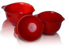 3 Plastik Schusseln!  Schüssel rot! Schussel zu mischen Kunststoff--3er Set