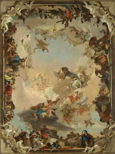 Giovanni Battista Tiepolo Allegory of the Planets Poster Giclee Canvas Print