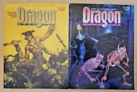 Dragon Magazine issues #185 & 198 (TSR, AD&D / D&D) - lot of 2