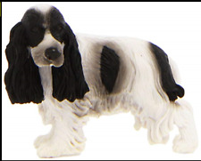 English Cocker Spaniel Dog Figurines 10 White Black Pet Collecta Toy Canine New