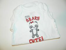 NWT CRAZY 8 girls Long Sleeve I'M BERRY SWEET PANDA Bodysuit* 6 9 12 months