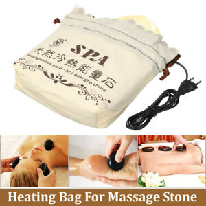 SPA Massage Warmer Heater Heating  + 12X Hot Stone Device for  SPA Beauty  New