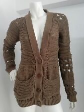 Stella McCartney cardigan knited button down size L brown cotton