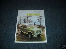 1975 FORD BRONCO DEALER SALES BROCHURE