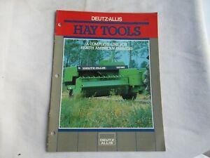 Deutz-Allis hay tools GP HD baler KM mower rakes brochure