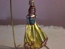 """Old World Christmas Yellow """"Princess"""" Glass Ornament"""