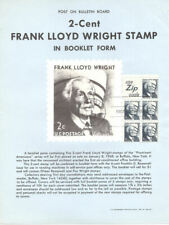 #1280a  2c Wright ZIP Booklet  Stamp Poster- Unofficial Souvenir Page Flat HC