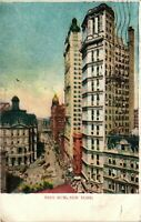 Vintage Postcard - Posted 1908 Park Row Sky Scrappers New York City NY #3135