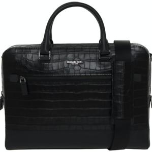 MICHAEL KORS Harrison Crocodile-Embossed  Leather Briefcase - Black - £430