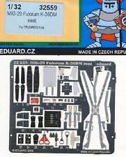 eduard - MiG-29 Fulcrum K-36DM seat seatbelts Sitz-Gurte Ätzteile 1:32 Trumpeter