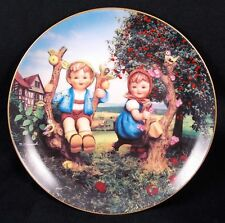 "Beautiful Hummel Plate 1992 ""Apple Tree Boy And Girl"" From The Danbury Mint"