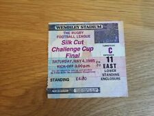 1985 Challenge Cup Final Match Ticket - Hull FC v Wigan