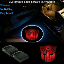 Red Transformers Logo Wireless LED Car Door Courtesy Projector Shadow Lights