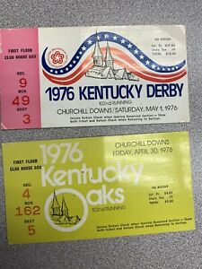 1976 Kentucky Derby tickets 102nd Churchill Downs Bicentennial plus OAKS tix 9/5