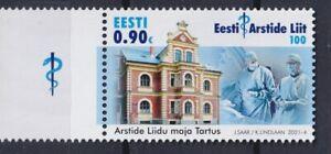 Estonia 2021 Medicine, Medical Association, Architecture MNH**