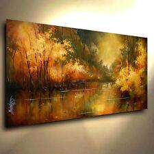 Landscape Art Original Painting Modern Contemporary  DECOR Mix Lang cert. Unique