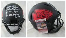 Kansas City Chiefs Christian Okoye Signed Autographed Full Size Eclipse Helmet