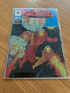 PSI-LORDS #1 GOLD VARIANT CHROME METAL COVER - VALIANT - 1994 - High Grade