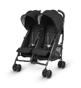 UPPAbaby G-LINK 2 Double Lightweight Stroller, Jake/Black - NEW/Opened Box