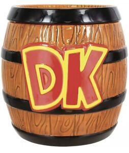 Nintendo Donkey Kong Barrel Cookie Jar Ceramic  New