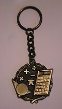 MATH TEACHER GIFT  KEYCHAIN  KEY CHAIN AWARD DRIVER GOLD MEDAL MEDALLION