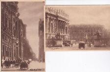 # TORINO: 2 CART. FOTOGRAFICHE DI G. POLETTI (ritoccate) PAL. CARIGNAO E P. CAST