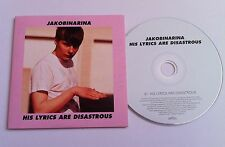 JAKOBINARINA His Lyrics Are Disastrous PROMO DJ CD SINGLE 2007 EMI album