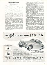 1958 Jaguar XK150 Momo - Classic Vintage Advertisement Car Ad J21