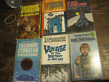 Theodore Sturgeon LOT OF 6 PBKS-VOYAGE BOTTOM OF SEA/TOUCH OF STRANGE/SYNTHETIC