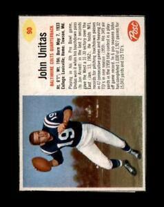 1962 Post Cereal Set Break # 90 Johnny Unitas NR-MINT