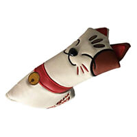 Golf Blade Putter Head Cover Protector Club Headcover Lucky Cat Golfer Gift