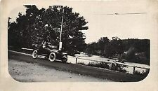 B79/ Automobile Real Photo Rppc Postcard c1910 Car Auto Driving Blur Road Art 3