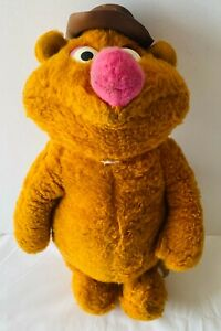 FOZZIE BEAR The Muppets Plush Soft Stuffed Toy Doll VINTAGE 70s Jim Henson 40cm